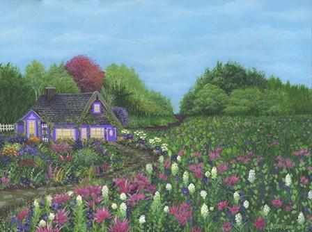 Royal Cottage & Garden by Bonnie B. Cook art print