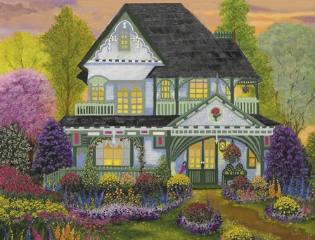 Red Rose Inn by Bonnie B. Cook art print