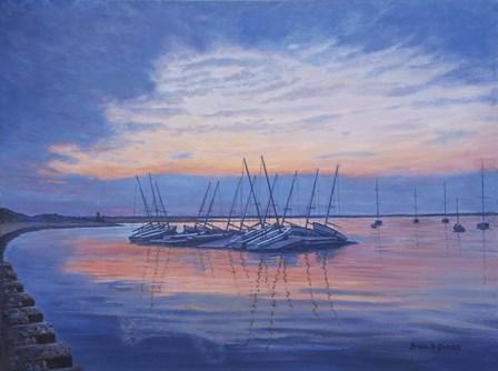 Resting Skiff Boats by Bruce Dumas art print