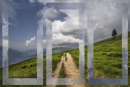 High Mountain Trail in Triple by Celebrate Life Gallery art print
