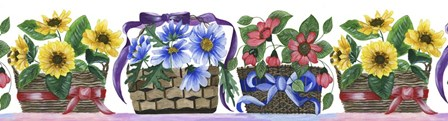Baskets Of Posies by Cheryl Bartley art print