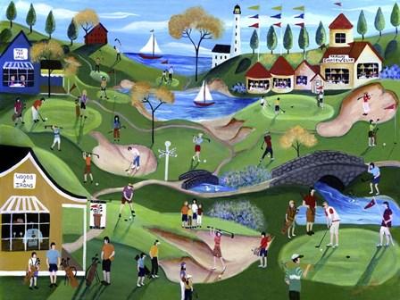 Fairway Golf Resort by Cheryl Bartley art print