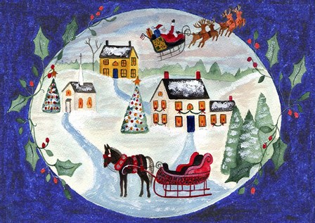 Joy At Christmas by Cheryl Bartley art print