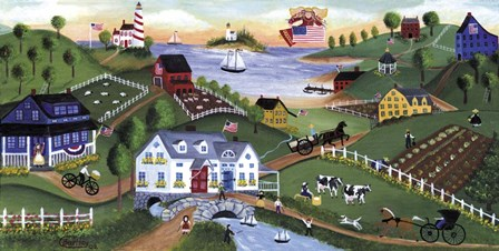 Yesteryear Village by Cheryl Bartley art print