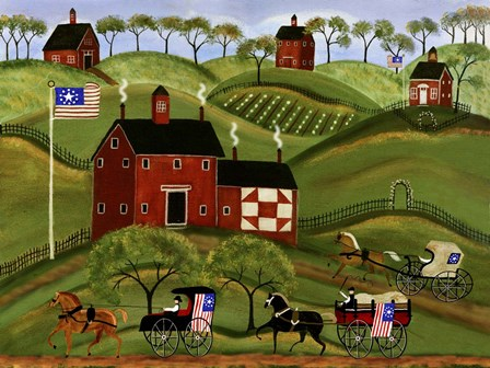 4th July Country Parade by Cheryl Bartley art print
