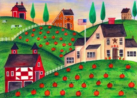 Pumpkin Patch by Cheryl Bartley art print