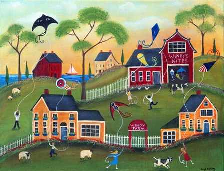 Windys Kite Farm by Cheryl Bartley art print
