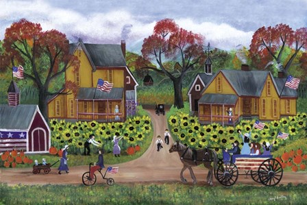American Sunflower Farm Celebration by Cheryl Bartley art print