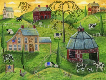 Country Farms by Cheryl Bartley art print