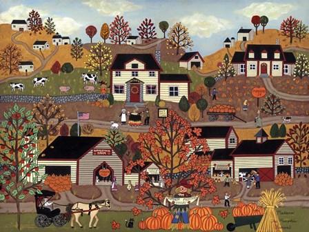 The Pumpkin Festival by Medana Gabbard art print