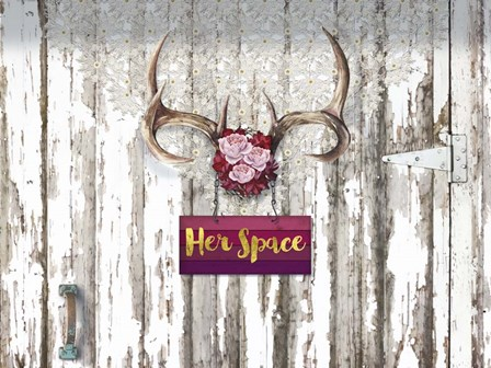 Her Space Santa Fe Cottage Style by Tina Lavoie art print