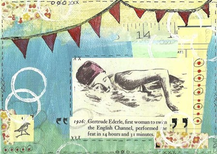 A Banner Swim by Vintage Gypsy art print