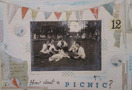 Picnic by Vintage Gypsy art print