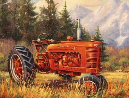 Rancher's Cadillac by Wanda Mumm art print
