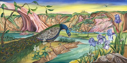 The Peacock's Kingdom by Wendy L. Wolf art print
