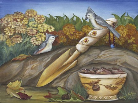Fall planning by Wendy L. Wolf art print