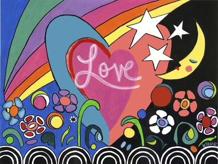Moreland Mural  - Love by Wyanne art print