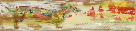 Windstorm Doxie by Wyanne art print