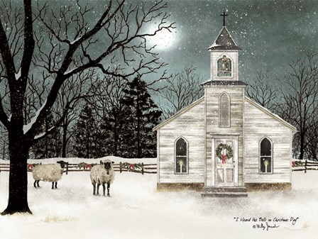 I Heard the Bells on Christmas Day  - Darker Sky by Billy Jacobs art print